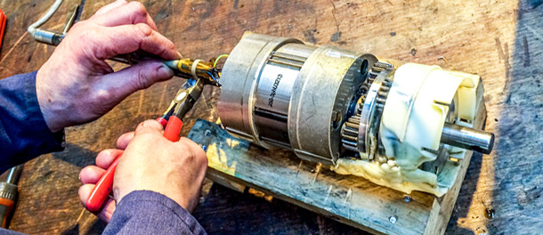 Service and Repair of Drum Motors and Gearboxes