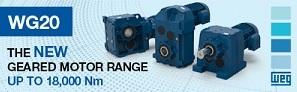 WEG WG20 geared motor range